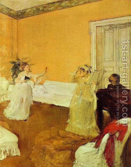 The Rehearsal by Edgar Degas - Reproduction Oil Painting