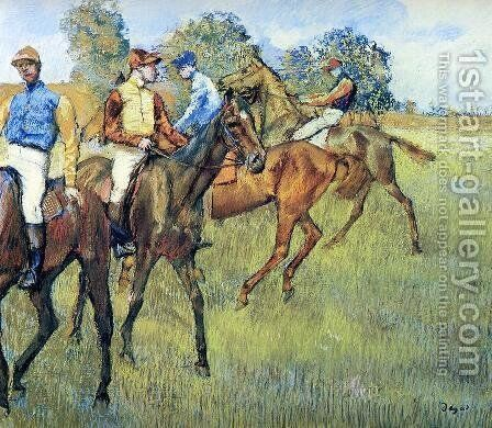 Race Horses I by Edgar Degas - Reproduction Oil Painting