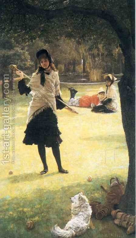 Croquet by James Jacques Joseph Tissot - Reproduction Oil Painting