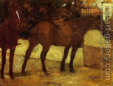 Study of Horses by Edgar Degas - Reproduction Oil Painting