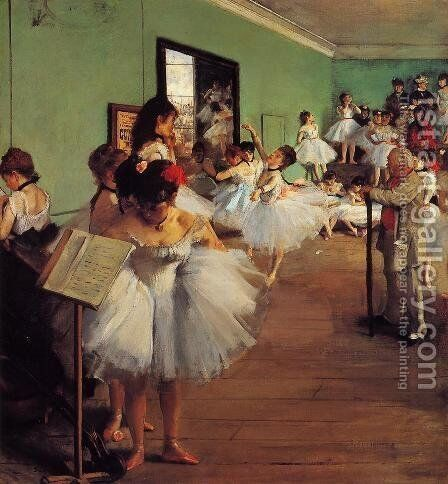 The Dance Class II by Edgar Degas - Reproduction Oil Painting