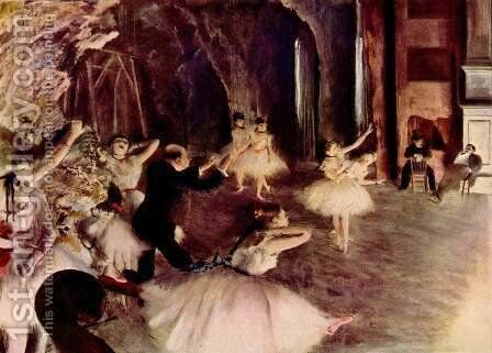 The Rehearsal on Stage by Edgar Degas - Reproduction Oil Painting