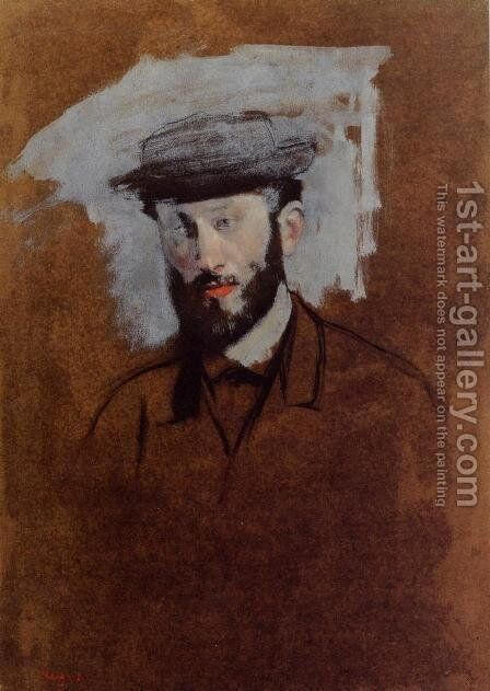 Portrait of Eugene Manet (study) by Edgar Degas - Reproduction Oil Painting