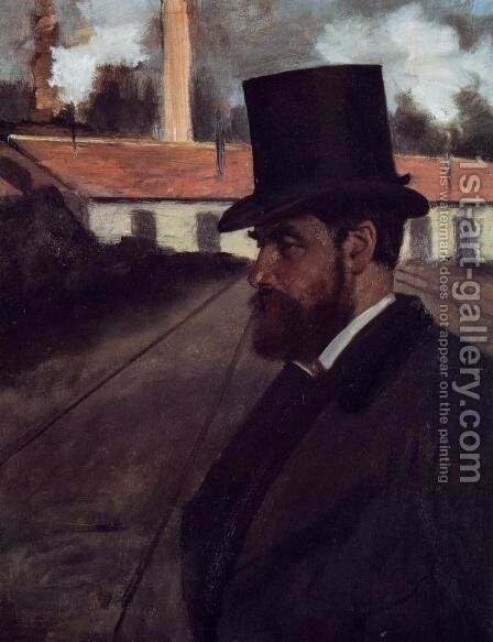 Henri Rouart in front of His Factory by Edgar Degas - Reproduction Oil Painting
