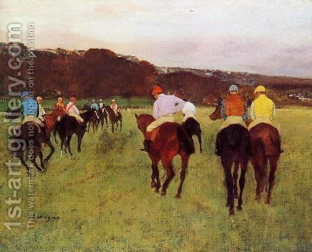 Before the Start by Edgar Degas - Reproduction Oil Painting