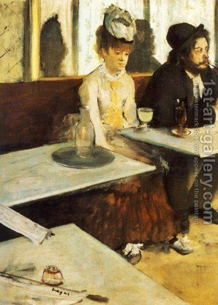 The Absinthe Drinker by Edgar Degas - Reproduction Oil Painting