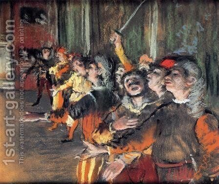 The Chorus by Edgar Degas - Reproduction Oil Painting