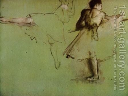 Dancers at the Barre (study) by Edgar Degas - Reproduction Oil Painting