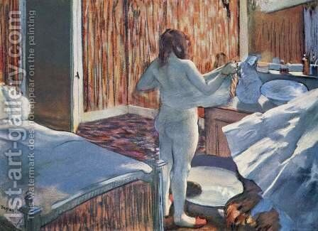 Woman at Her Toilette by Edgar Degas - Reproduction Oil Painting