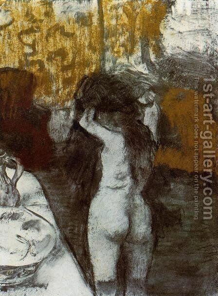 After the Bath III by Edgar Degas - Reproduction Oil Painting