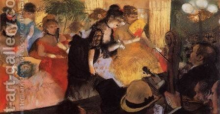 The Cafe Concert by Edgar Degas - Reproduction Oil Painting