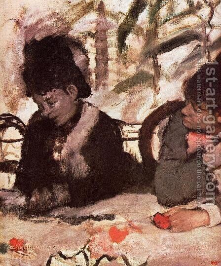 At the Cafe by Edgar Degas - Reproduction Oil Painting