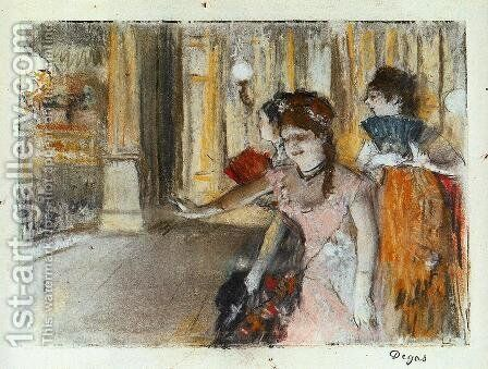 Singers on Stage by Edgar Degas - Reproduction Oil Painting