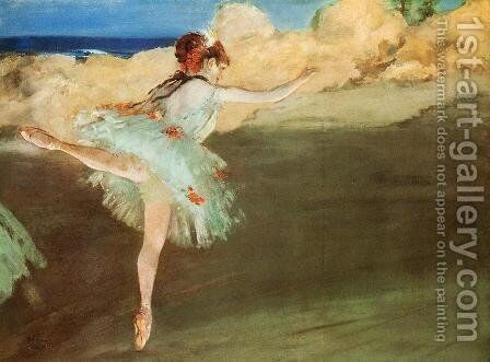 The Star - Dancer on Pointe by Edgar Degas - Reproduction Oil Painting
