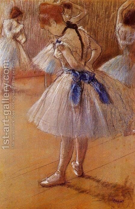 The Dance Studio by Edgar Degas - Reproduction Oil Painting