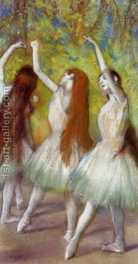 Dancers in Green by Edgar Degas - Reproduction Oil Painting