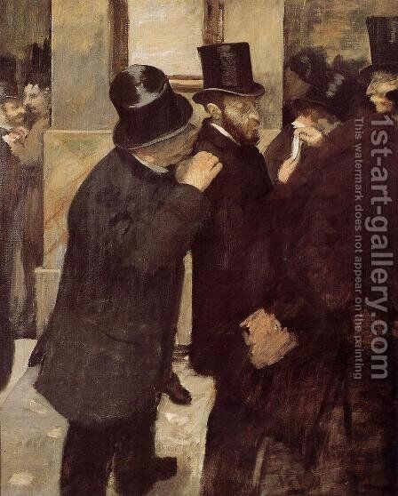 Portraits at the Stock Exchange by Edgar Degas - Reproduction Oil Painting