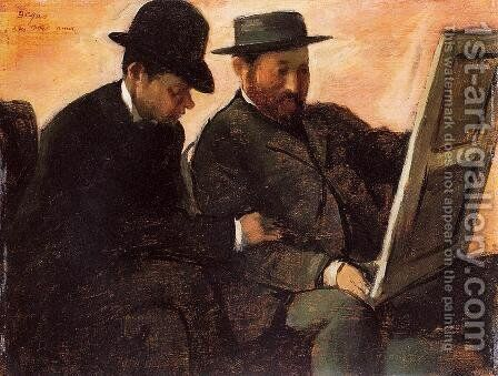 The Amateurs by Edgar Degas - Reproduction Oil Painting