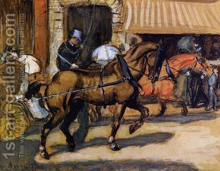 In the Street by Louis Anquetin - Reproduction Oil Painting