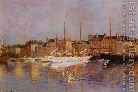 Boats in Port by Edmond Marie Petitjean - Reproduction Oil Painting