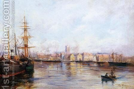 The Port by Edmond Marie Petitjean - Reproduction Oil Painting
