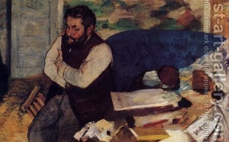 Diego Martelli II by Edgar Degas - Reproduction Oil Painting