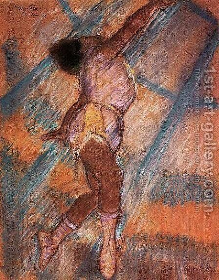 Study for 'La La at the Cirque Fernando' by Edgar Degas - Reproduction Oil Painting