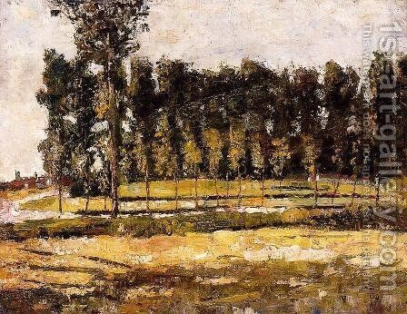 Village Road at the Edge of the Forest by Lesser Ury - Reproduction Oil Painting