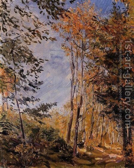 Herbstwald by Max Slevogt - Reproduction Oil Painting