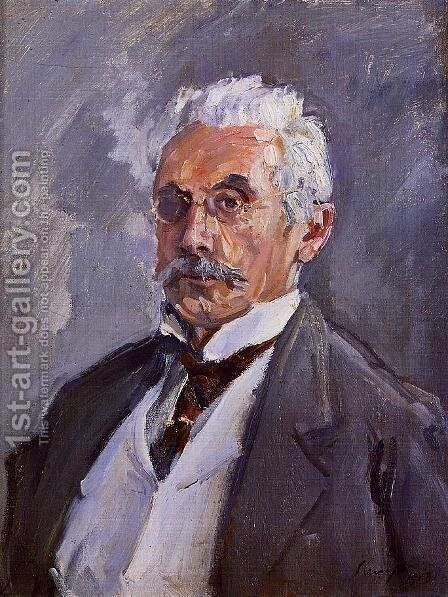 Portrait of Carl Steinbart by Max Slevogt - Reproduction Oil Painting