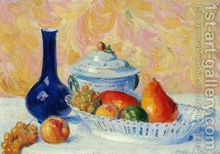 Still Life with Fruit by Hippolyte Petitjean - Reproduction Oil Painting