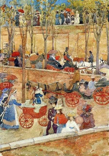 Afternoon, Pincian Hill by Maurice Brazil Prendergast - Reproduction Oil Painting