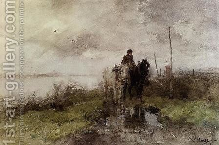 The Country Road by Anton Mauve - Reproduction Oil Painting