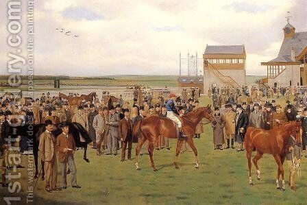 Newmarket, The Rowley Mile Course, the 2,000 Guineas by Isaac Cullin - Reproduction Oil Painting
