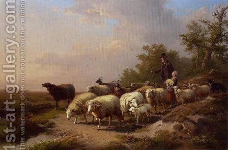Tending the Flock by Anton Mauve - Reproduction Oil Painting