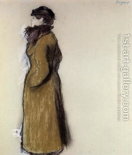 Ellen Andree by Edgar Degas - Reproduction Oil Painting