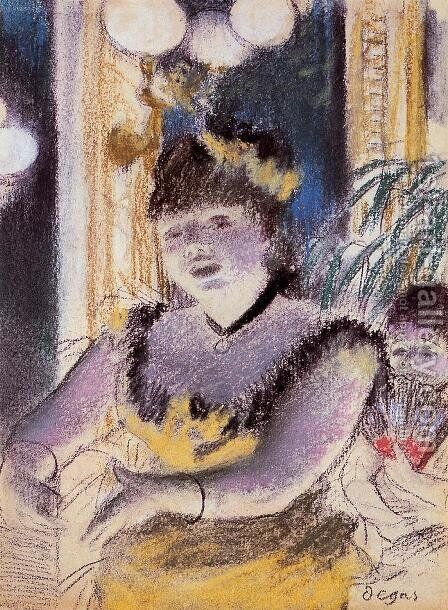 Cafe-Concert Singer 2 by Edgar Degas - Reproduction Oil Painting