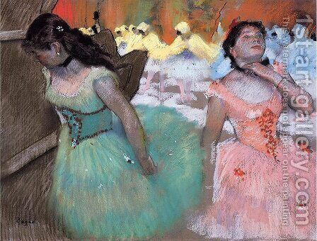 The Entrance of the Masked Dancers by Edgar Degas - Reproduction Oil Painting