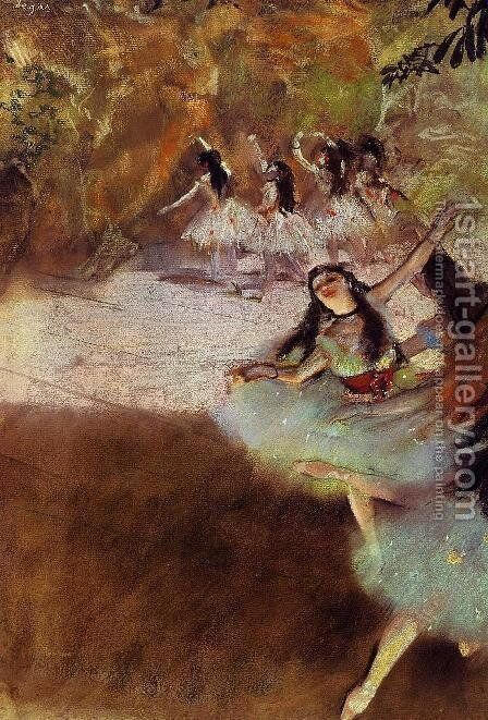 On the Stage by Edgar Degas - Reproduction Oil Painting
