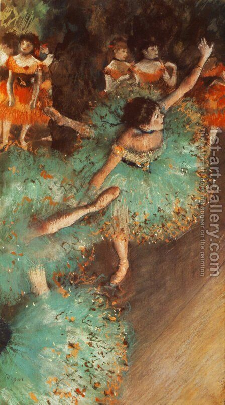 The Green Dancer by Edgar Degas - Reproduction Oil Painting