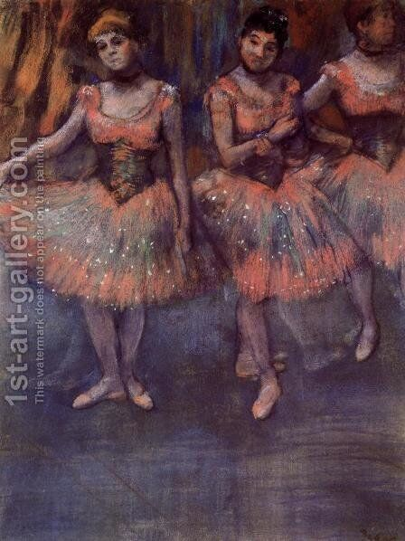 Three Dancers before Exercise by Edgar Degas - Reproduction Oil Painting