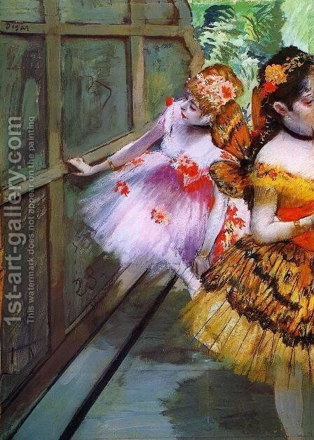 Ballet Dancers in Butterfly Costumes (detail) by Edgar Degas - Reproduction Oil Painting