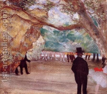 The Curtain by Edgar Degas - Reproduction Oil Painting