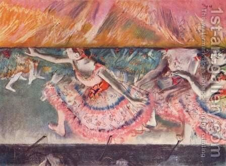 Lowering the Curtain by Edgar Degas - Reproduction Oil Painting