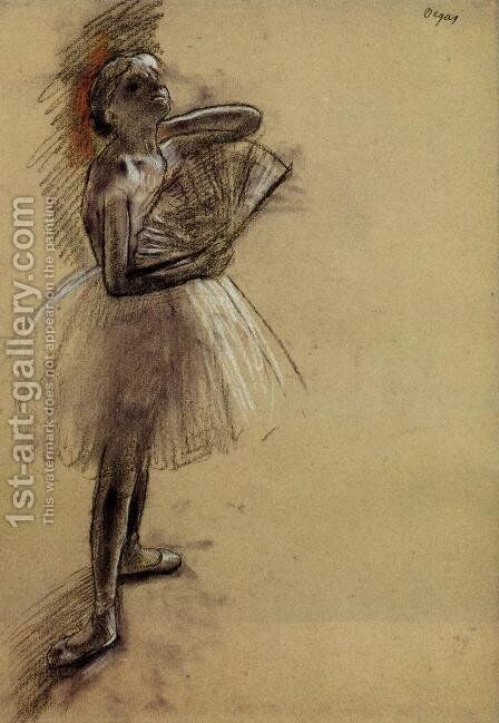 Dancer with a Fan I by Edgar Degas - Reproduction Oil Painting