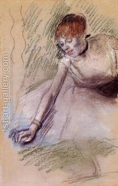 Bowing Dancer by Edgar Degas - Reproduction Oil Painting