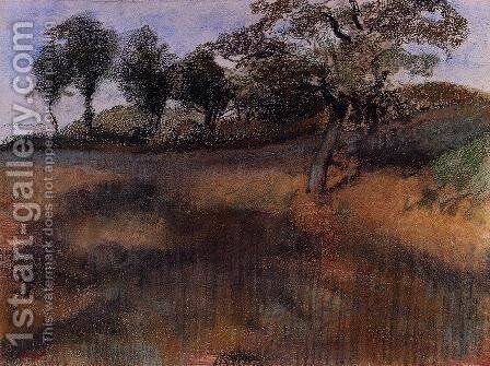 Plowed Field by Edgar Degas - Reproduction Oil Painting