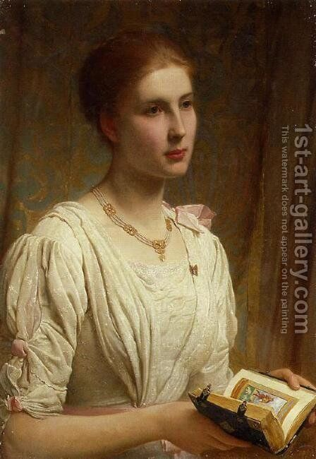 Miss Helen Lindsay by Charles E. Perugini - Reproduction Oil Painting