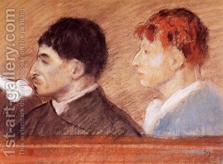 Criminal Physiognomies by Edgar Degas - Reproduction Oil Painting