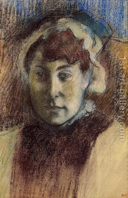 Portrait of Madame Ernest May by Edgar Degas - Reproduction Oil Painting
